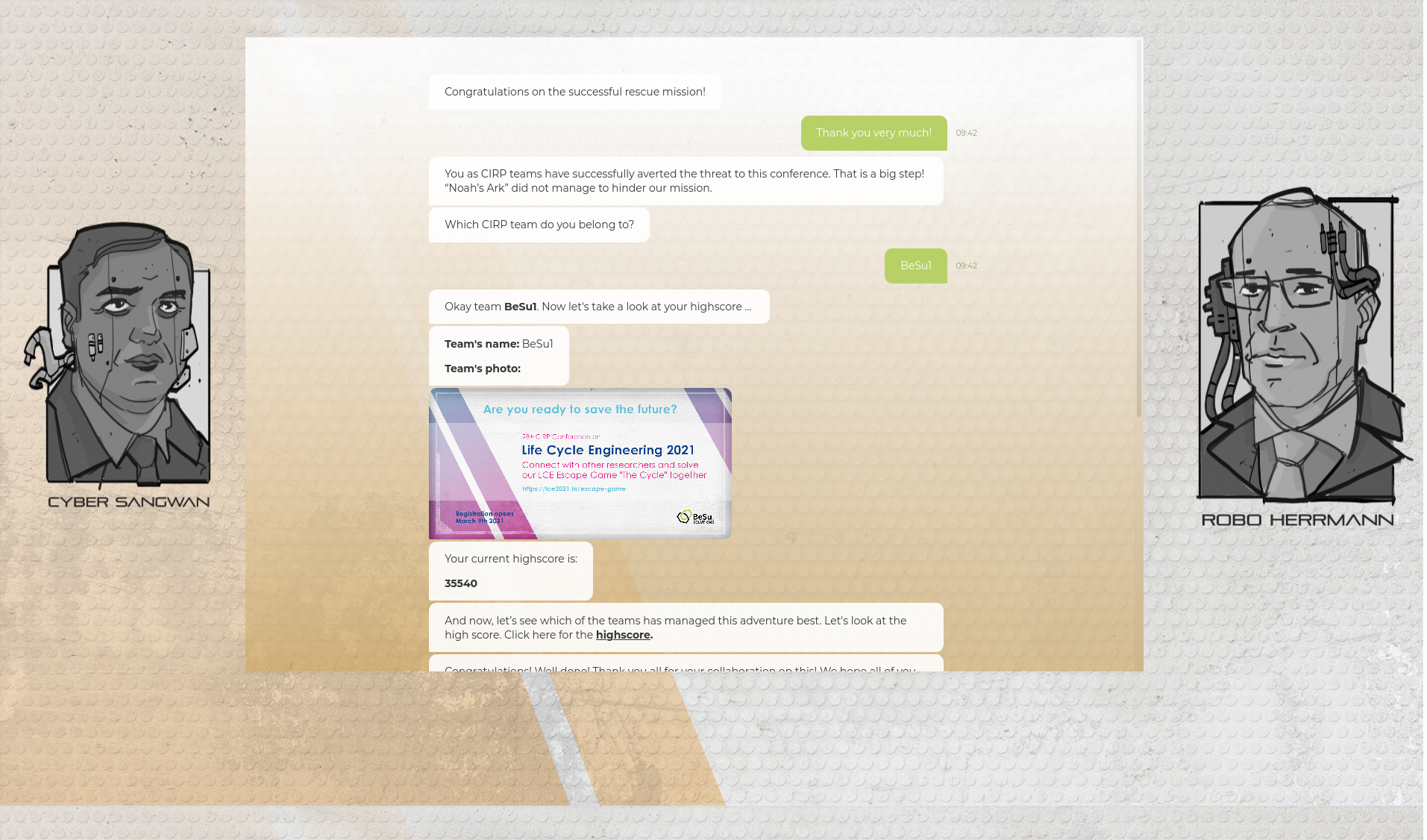 6.3 - Quest 5 und Outro - Screenshot Chatbot 3